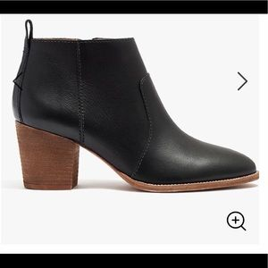 🌵NEW! Madewell Brenner black leather bootie